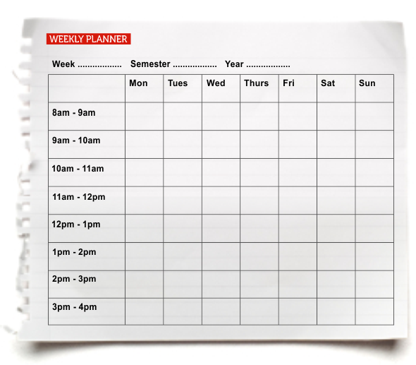 daily and weekly planners
