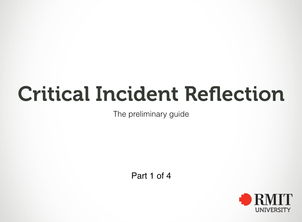 Critical incident report for nursing | Learning Lab