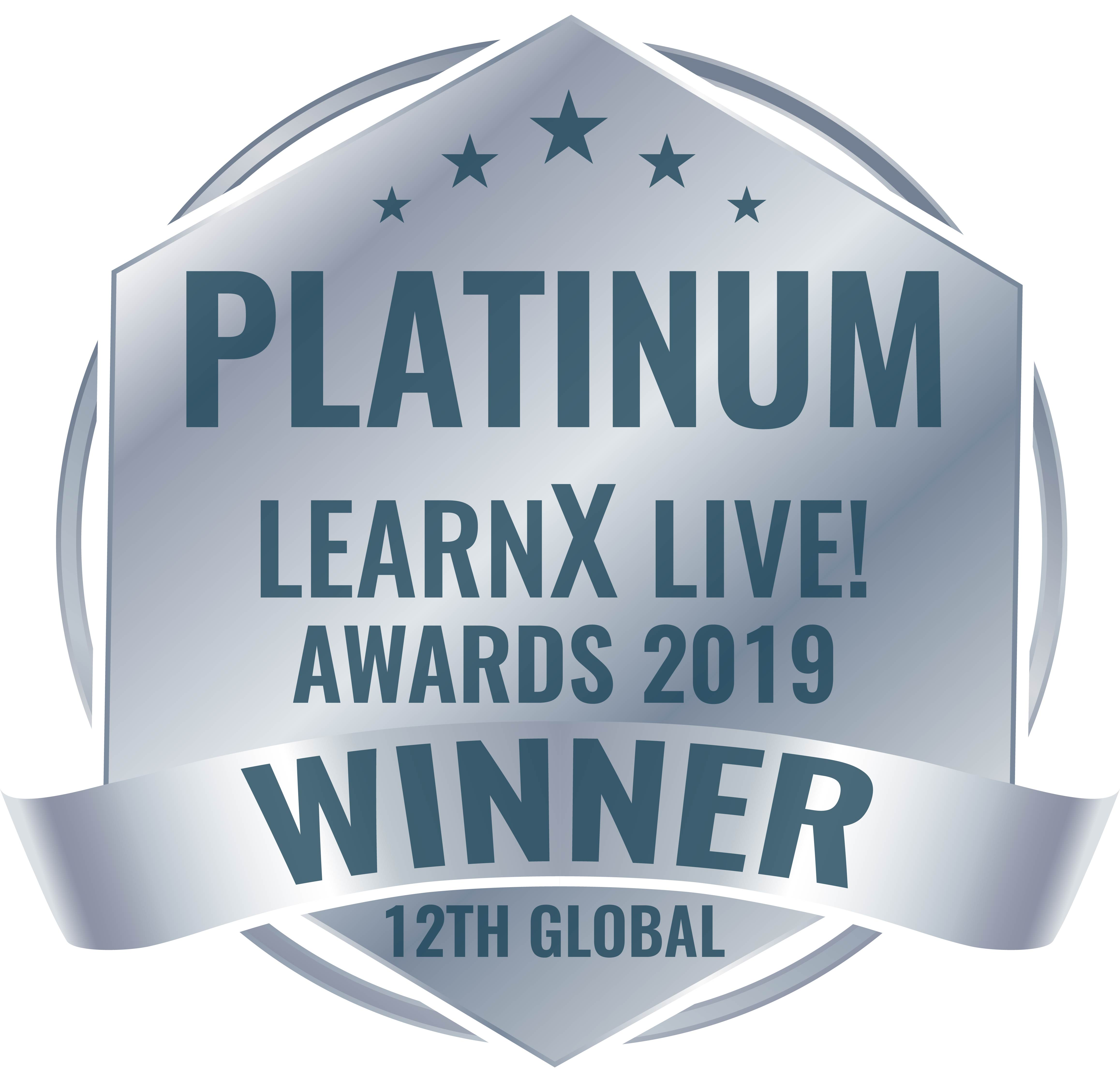 2019 LearnX Platinum Winner