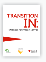 Cover of 'Transition In' handbook for student mentees