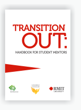Cover of 'Transition Out' handbook for student mentors